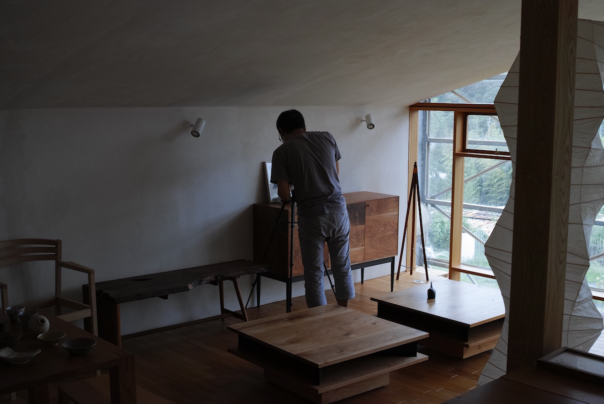 正方形ローテーブル